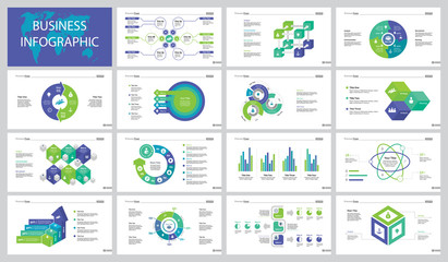 Fifteen Business Training Slide Templates Set