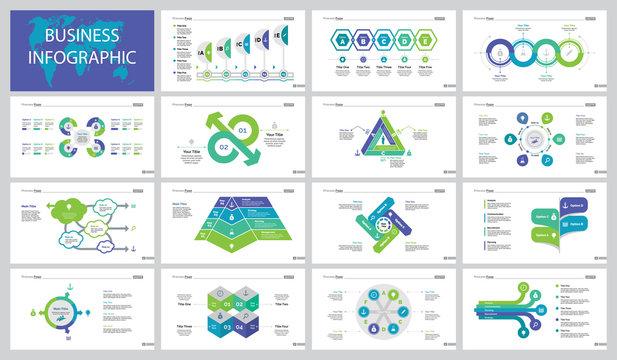 Fifteen Survey Slide Templates Set