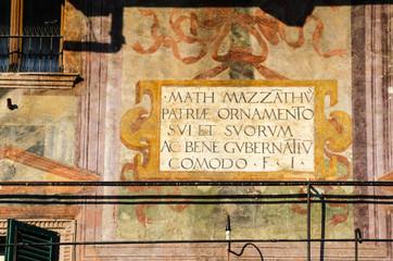 Historische Hausfassade Verona