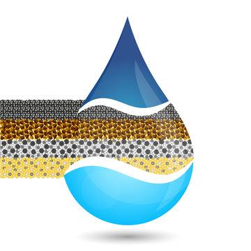 Water filtration symbol