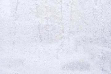 water drops frozen in winter in the frost