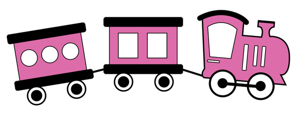 Pink and Black Train