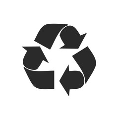 recycle icon in trendy flat style isolated on background. recycle icon page symbol for your web site design recycle icon logo, app, UI. recycle icon Vector illustration, EPS10.