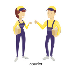 Isolated delivery couple.