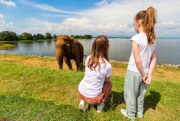 Family at Udawalawe National Park