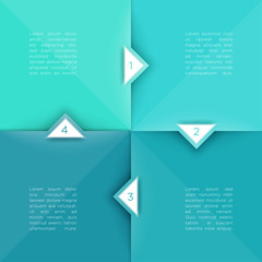 Square Steps Flat Background With Arrow Points 1 to 4 Vector