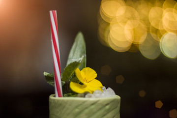 Tropical cocktail, close up