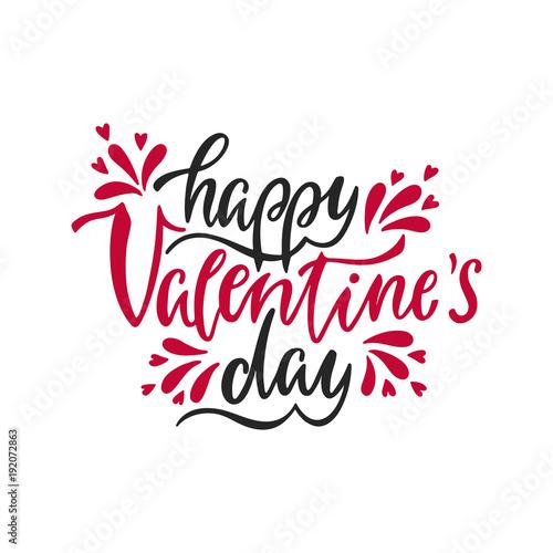 Happy Valentine S Day Romantic Handwritten Phrase About Love Hand