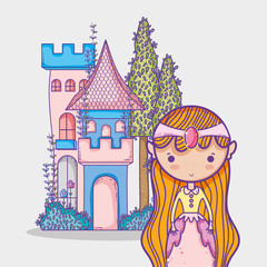 Magic world little princess hand drawing cartoon man with sunglasses and dollar symbol inside chat bubble