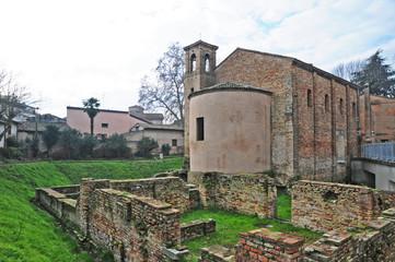 Ravenna, rovine romane alla chiesa di Santa Maria Maggiore