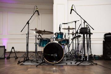 drum set before a live concert