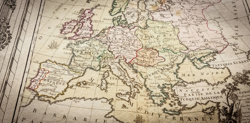 Map of Europe dating from the 18th century