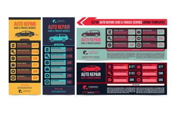 Auto Repair Service Flyer Layouts