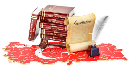 Constitution of Turkey concept, 3D rendering