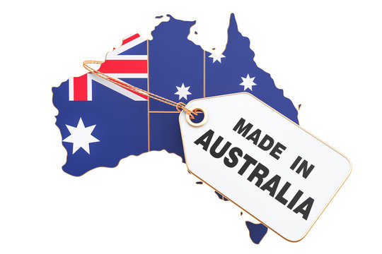 Made in Australia concept, 3D rendering