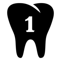 First tooth icon, simple style