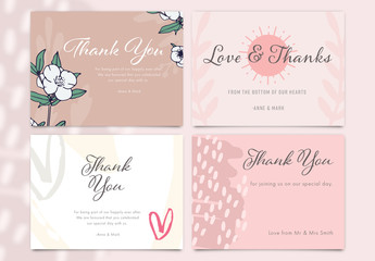 Thank You Social Media Post Layout Set