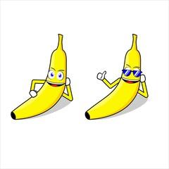 banana character mascot illustration