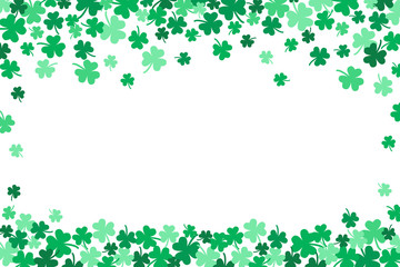 Saint Patricks Day Falling Shamrocks Vector Background 3
