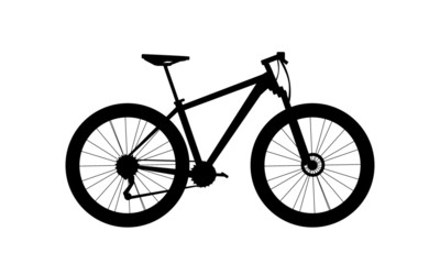 silhouette mountain bike vector