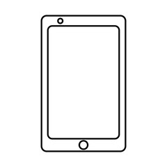 technology device wireless smartphone display blank vector illustration outline image