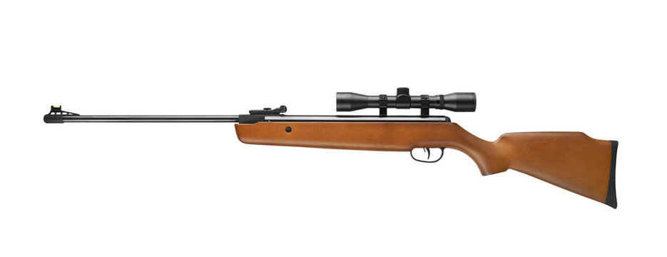Air rifle wiht sniper scope