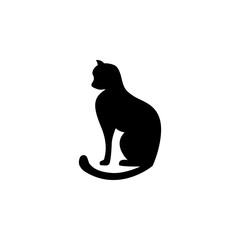 cat silhouette icon. Element of pet for mobile concept and web apps. Icon for website design and development, app development. Premium icon