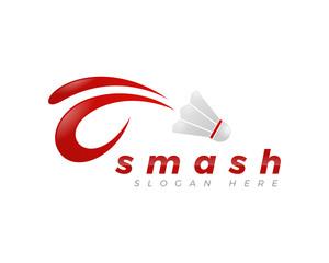 smash badminton logo