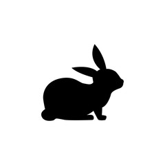 silhouette of a rabbit icon. Element of pet for mobile concept and web apps. Icon for website design and development, app development. Premium icon