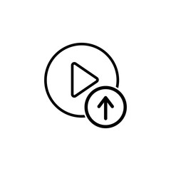 downloading videos icon. Element of video player for mobile concept and web apps. Thin line icon for website design and development, app development. Premium icon