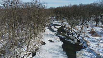 Winter Woods - Aerial Image