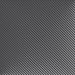 Geometric striped pattern with continuous parallel diagonal lines on dark gray background. Vector illustration