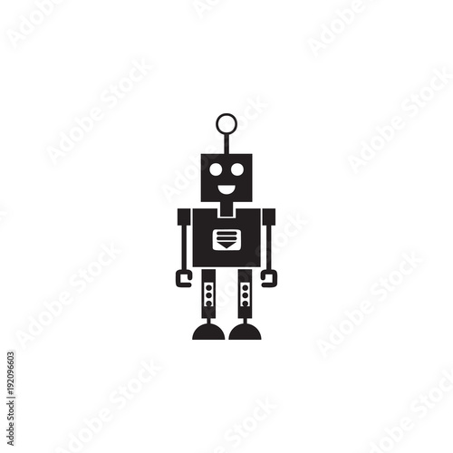 robot with a smile icon  Element of robots for advertising