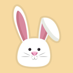 cute rabbit head icon vector illustration design