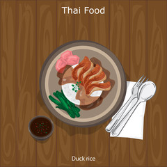 thai food Duck rice
