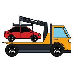 car in truck icon vector illustration design