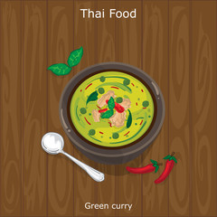 thai food Green curry