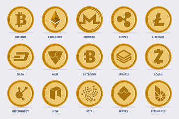 Cryptocurrency Vector Set