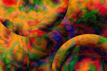 colorful Abstract, crystal blur, space tie dye unique background pattern design