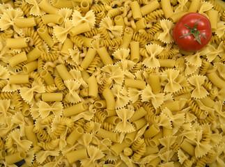 Pasta, macaronis and tomato