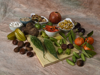 Indian foods, some ingredients