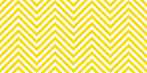Summer background chevron pattern seamless yellow and white. Wall mural