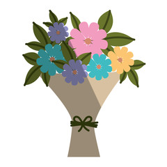 bouquet of flowers icon vector illustration design