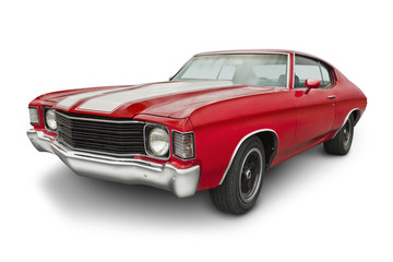 Red 1970 Muscle Car