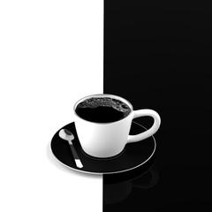 Black coffee minimal concept