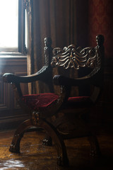 antique armchair in classical style room interior