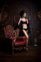seductive girl in underwear