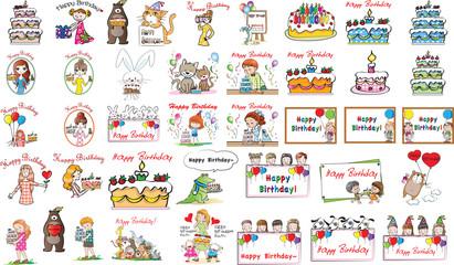 birthay card set