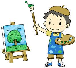 画家 男の子