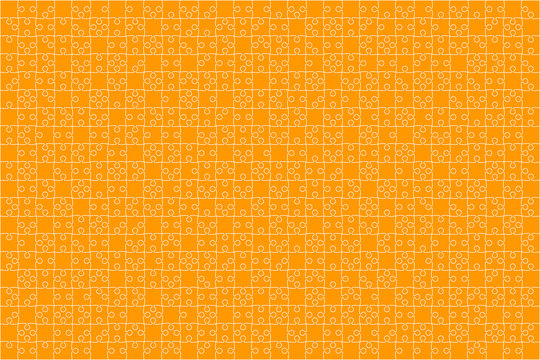 Orange Puzzles Pieces Jigsaw - Vector Background.